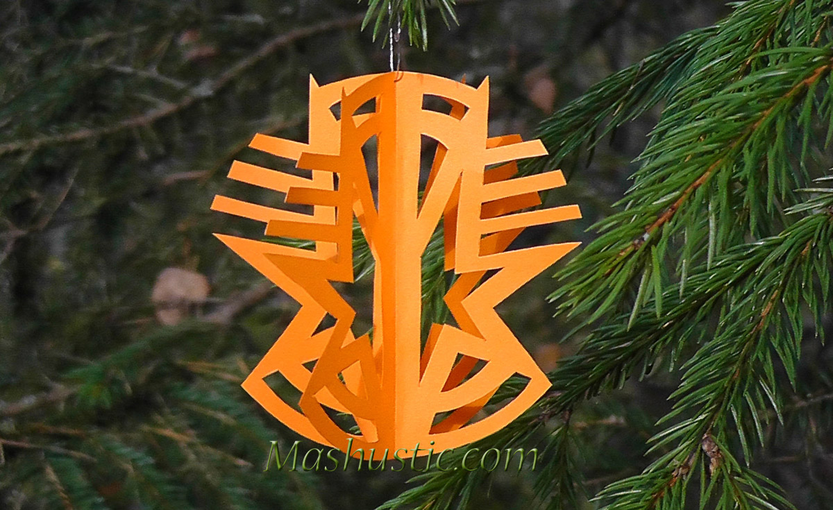 Paper Christmas Tree Ornaments Mashustic Com