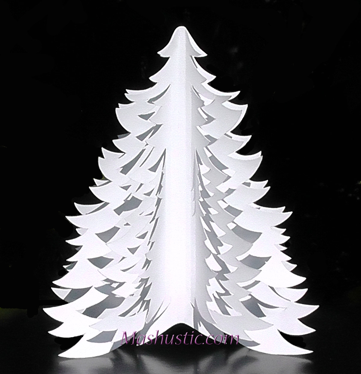 3d Paper Christmas Tree Template.How To Make 3d Paper Christmas Tree Mashustic Com