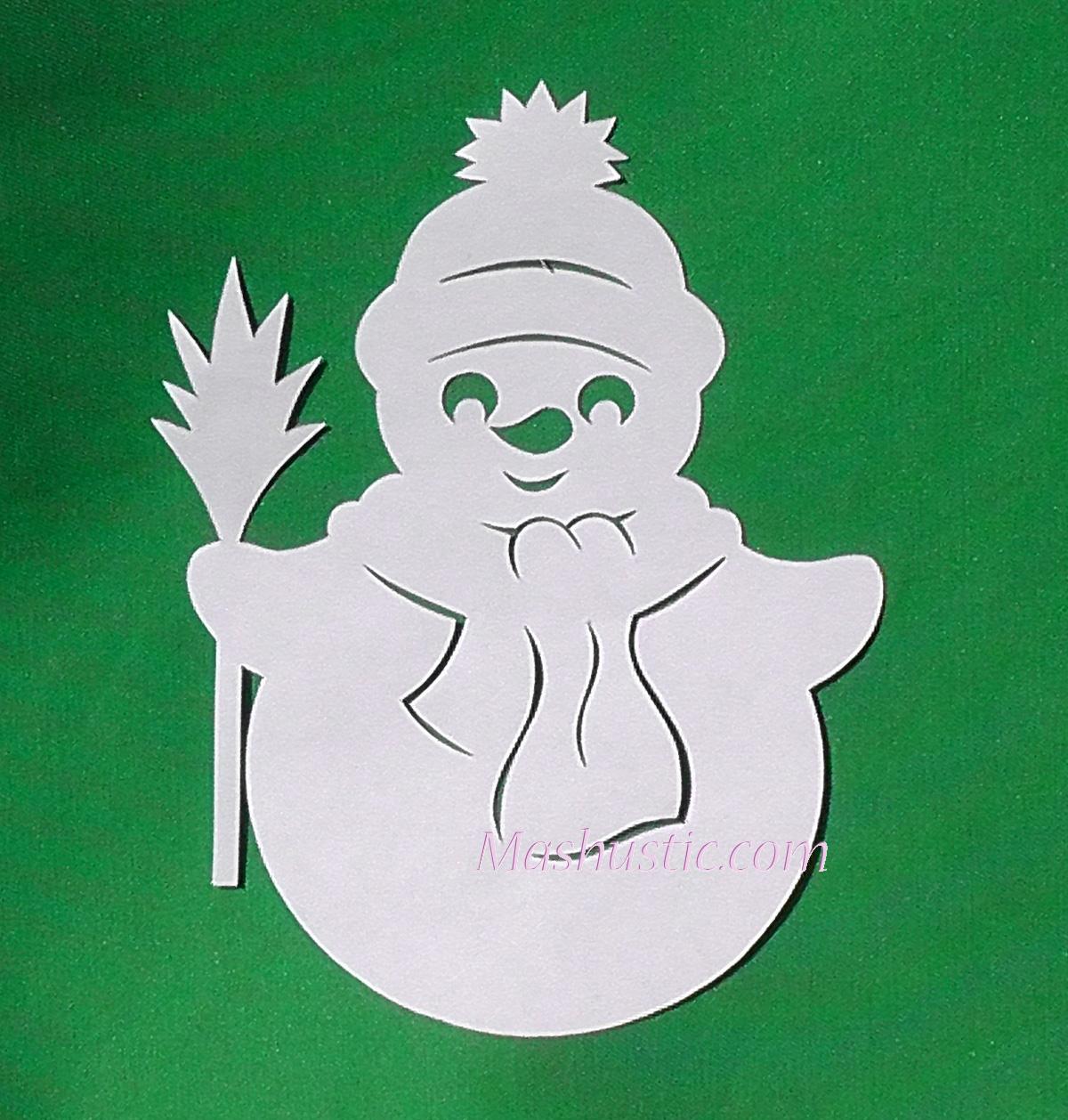 Снеговик  из бумаги картинки