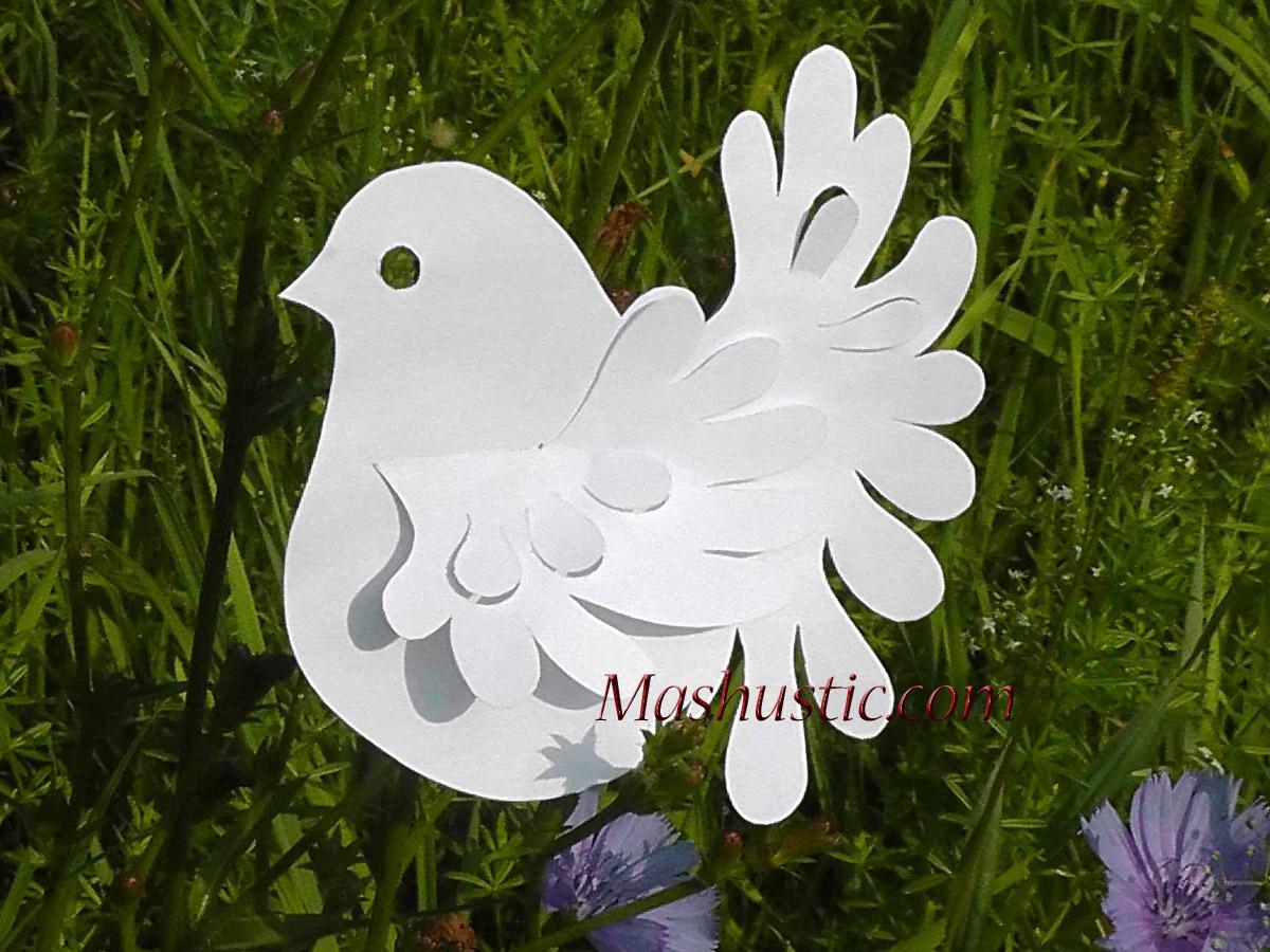 Объемные голуби из бумаги ольги кирьяновой