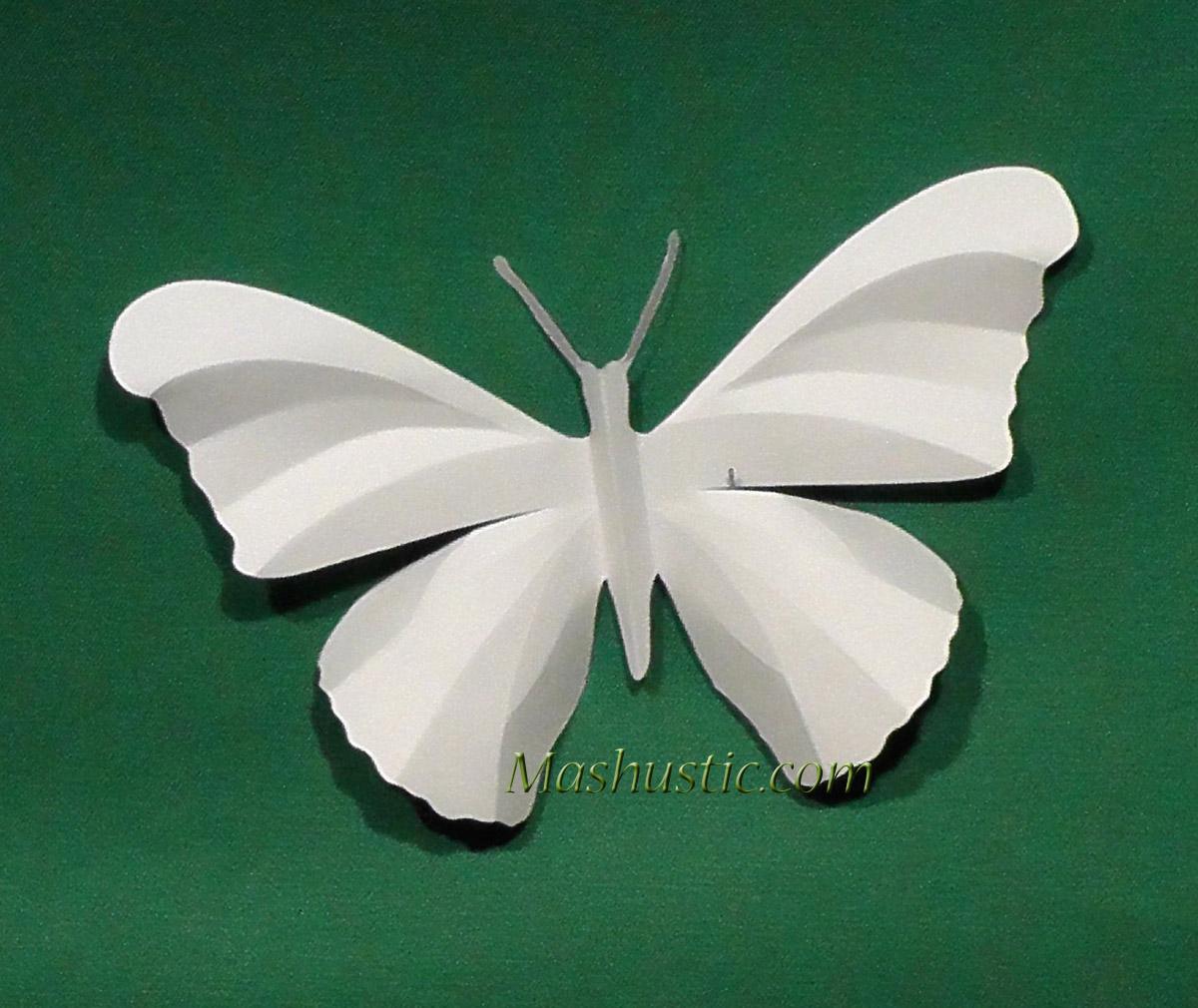 Бабочки объемные из цветной бумаги