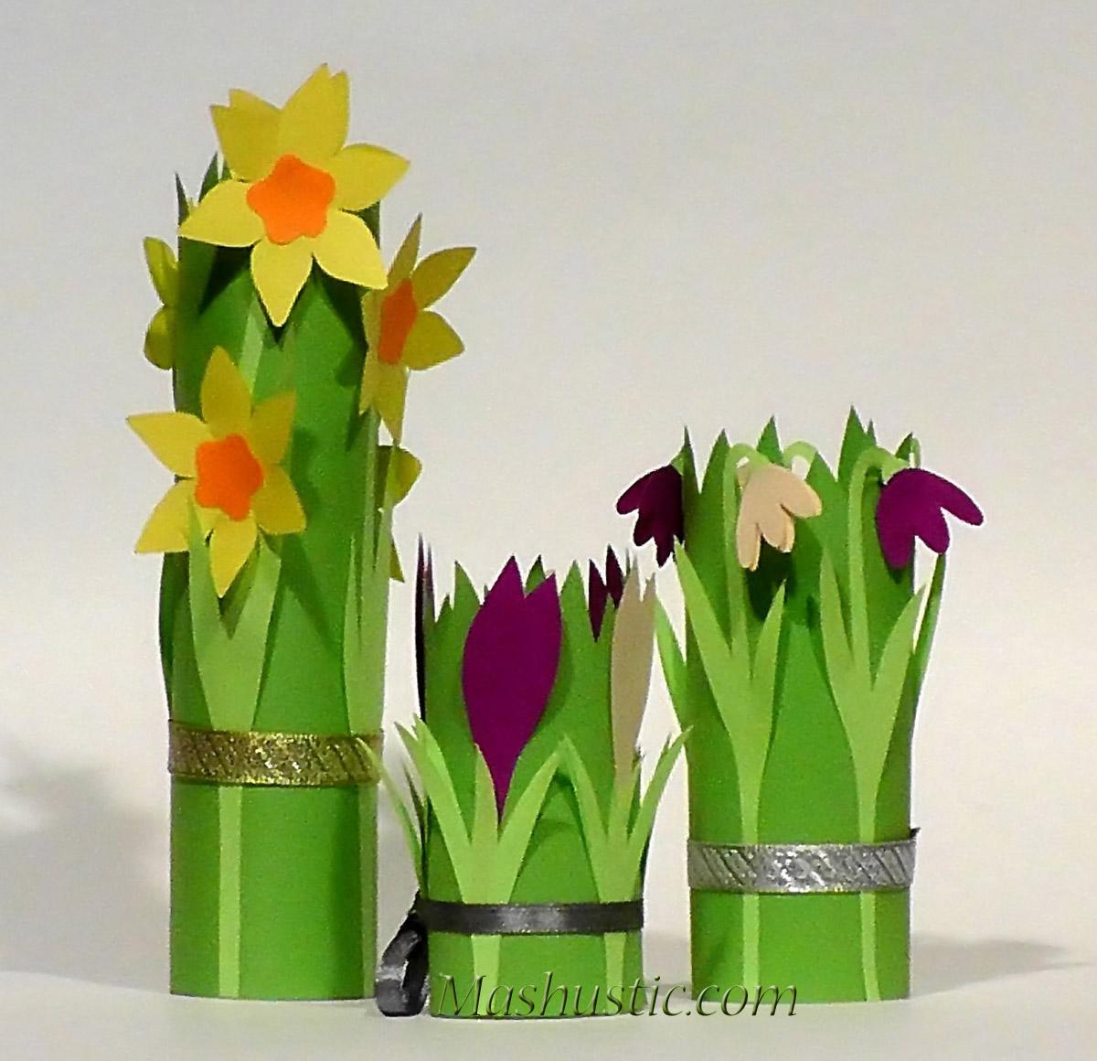 Цветы для мамы своими руками тюльпаны