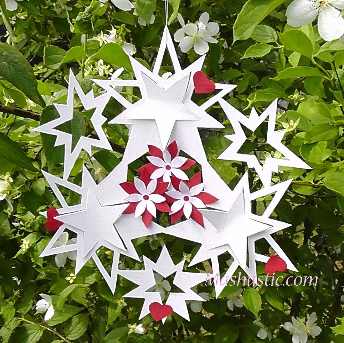 Звезды из бумаги к новому году