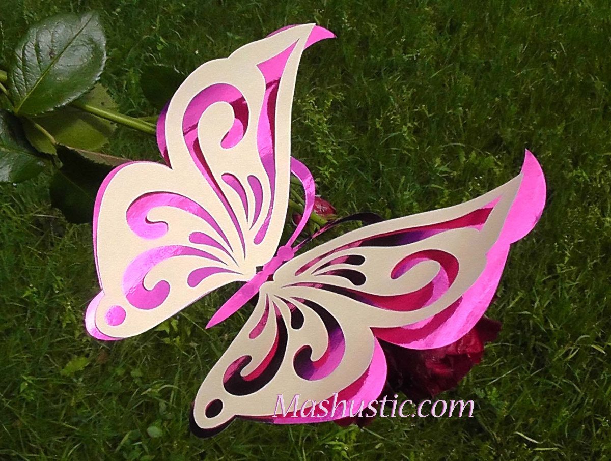 Как сделать объемных бабочек из бумаги своими руками