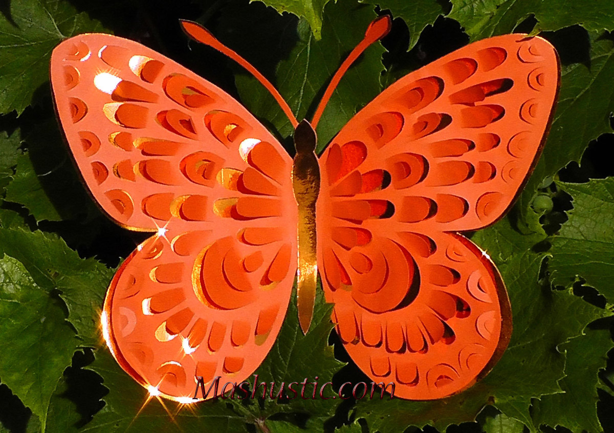 butterfly from color paper - Color Butterfly 2