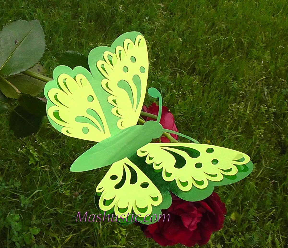 paper double layer butterflies mashustic com