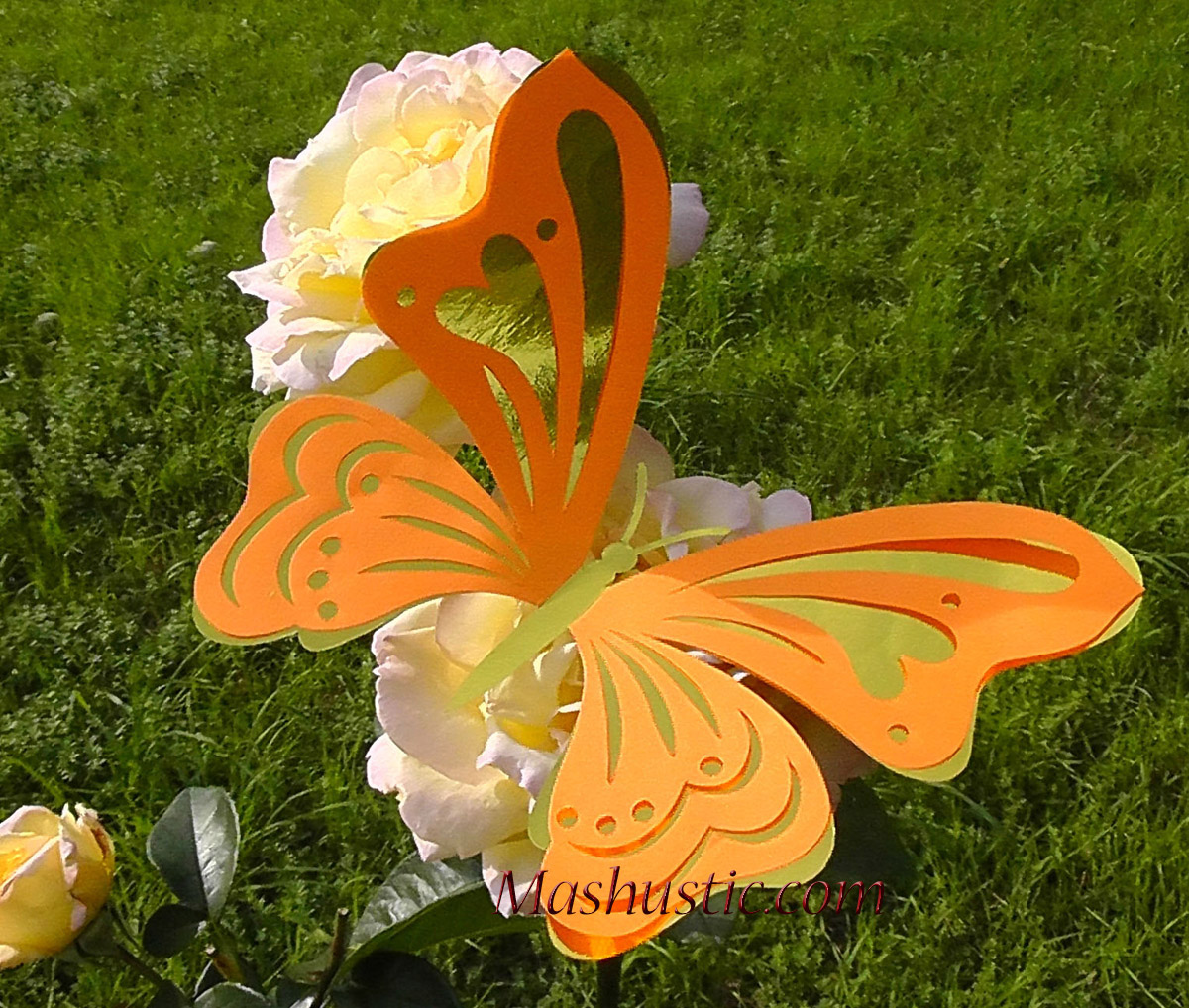 Как сделать большую бабочку
