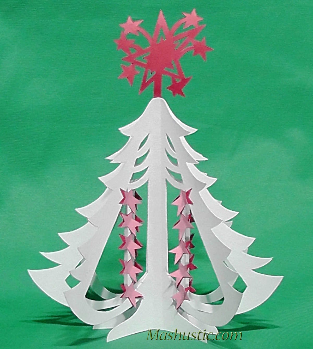 3d Paper Christmas Tree Template.Miniature Christmas Paper Tree Diy Mashustic Com