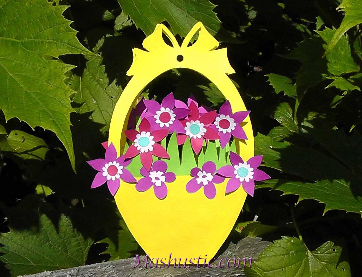 Paper flower basket for kids mashustic paper flowers for kids dhlflorist Images