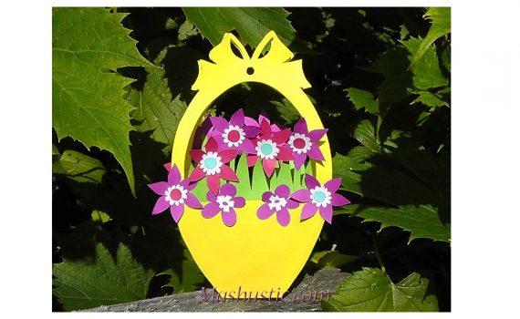 Цветы в корзинку из бумаги своими руками