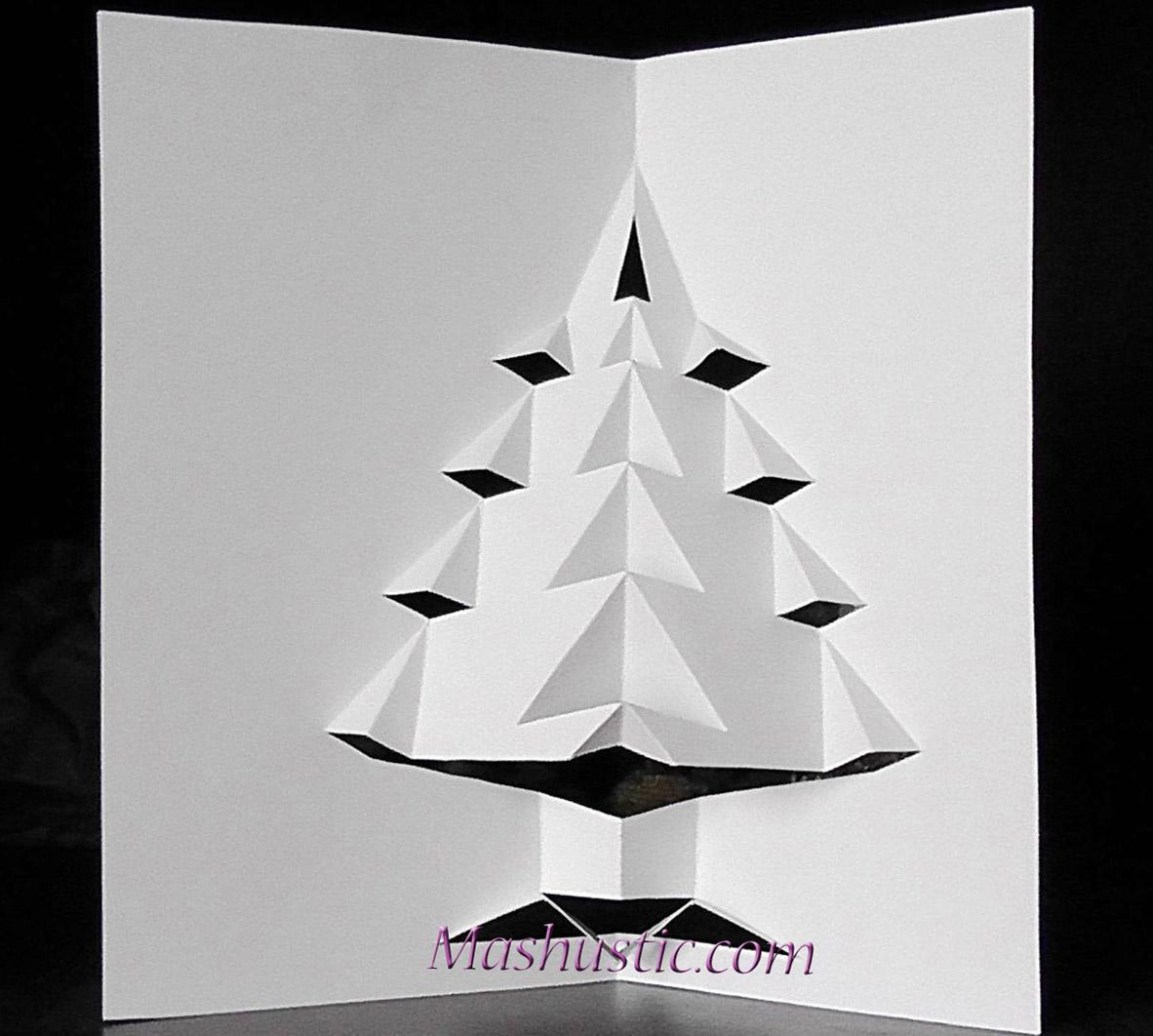 Popup Christmas Tree Card