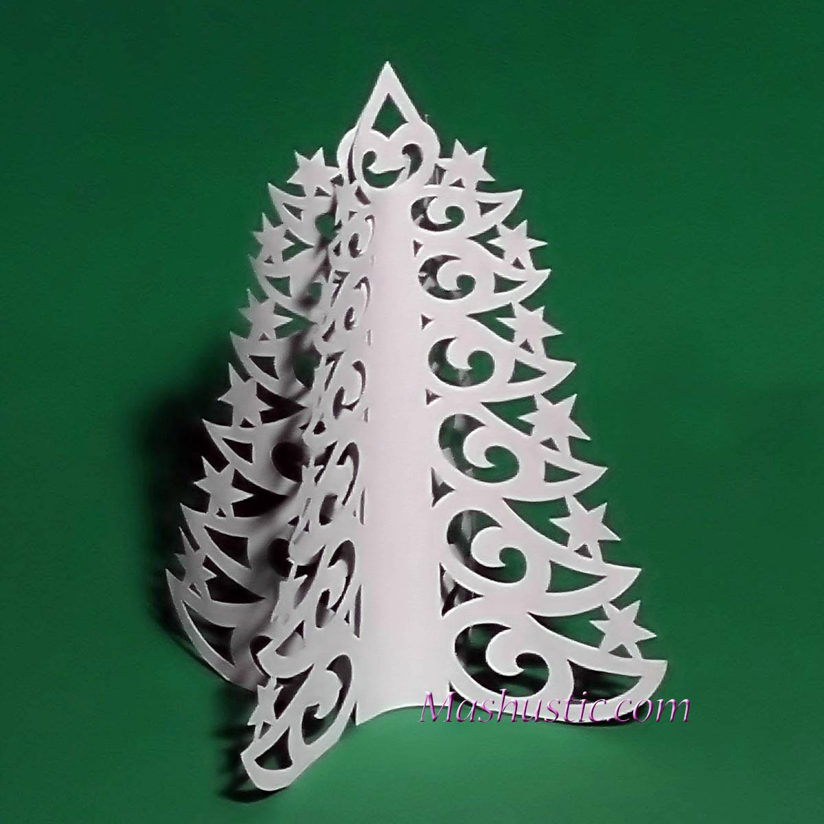 3d Paper Christmas Tree Template.Christmas Paper Tree To Make Mashustic Com