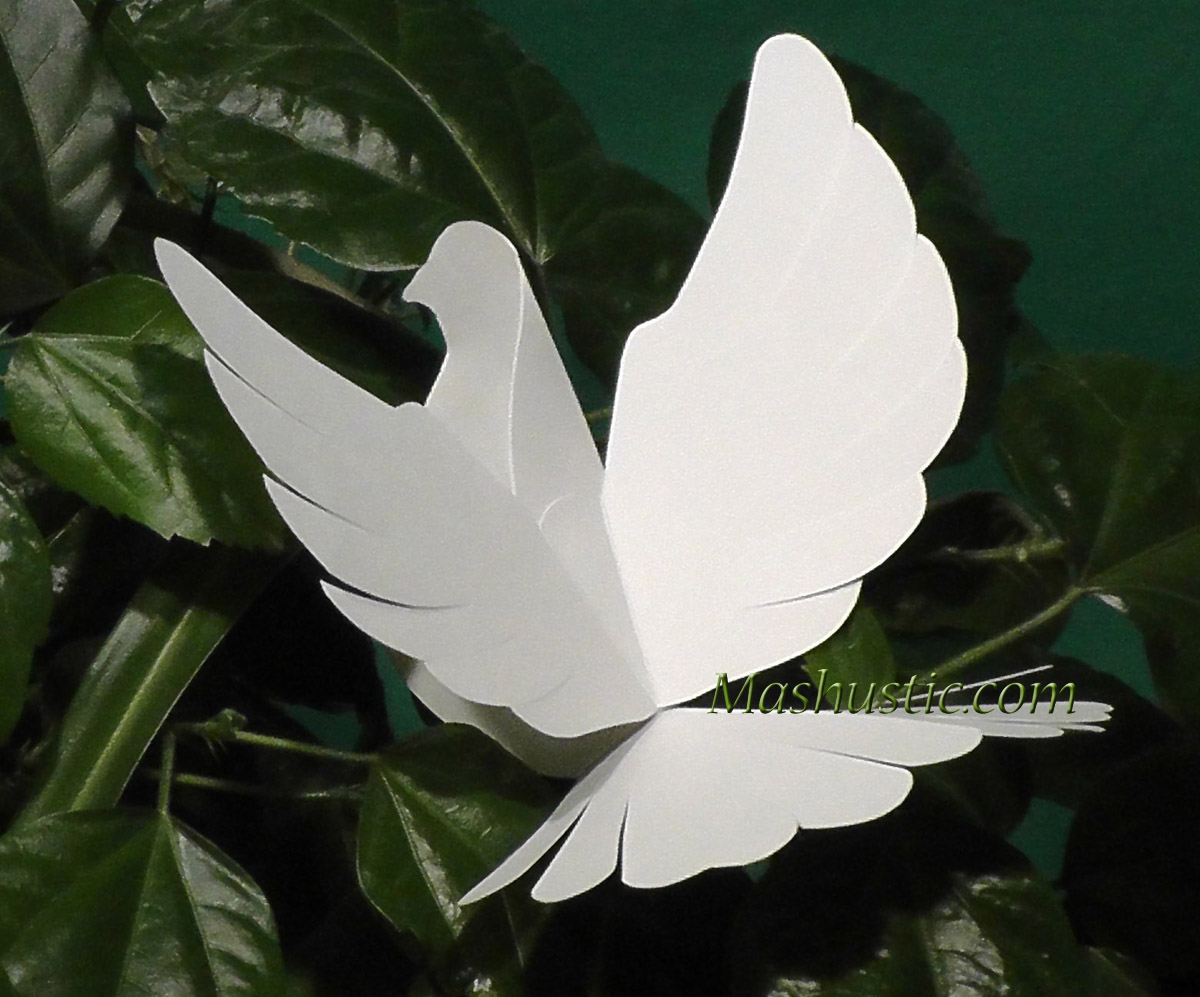 diy paper dove with printable template mashustic com