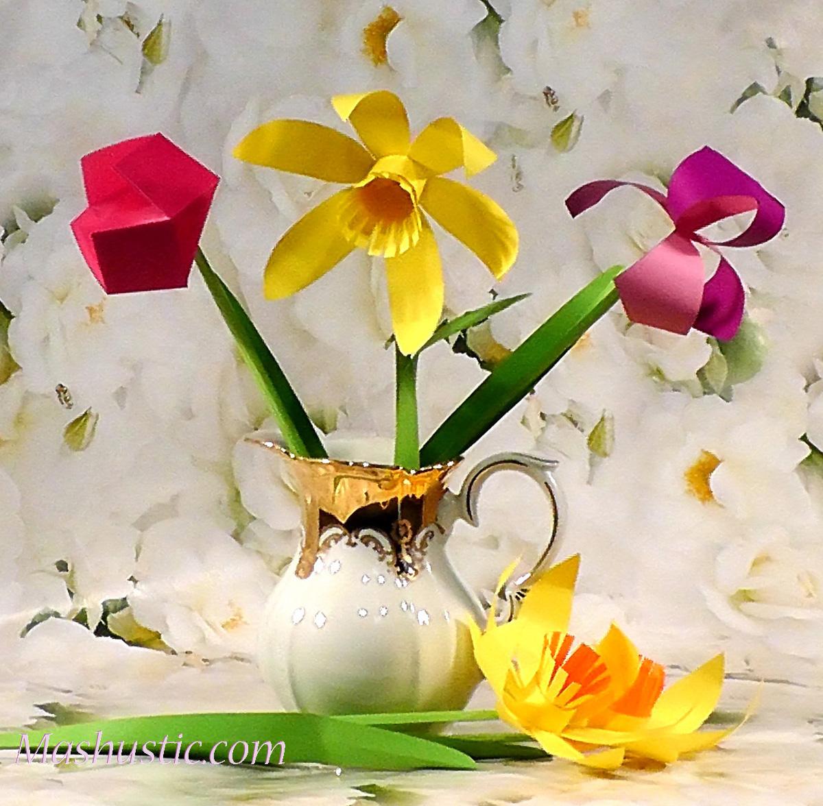 Easy Paper Flower Bouquet Diy Mashustic
