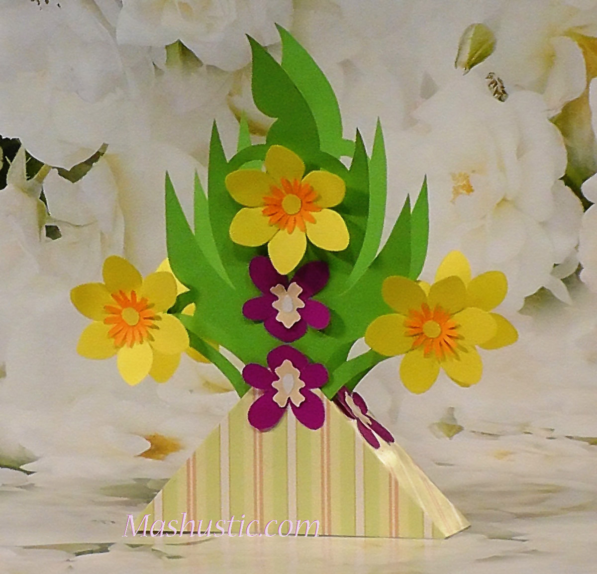 Easy paper flower bouquets for kids mashustic paper crafts easy flower bouquets for kids 2 templates mightylinksfo