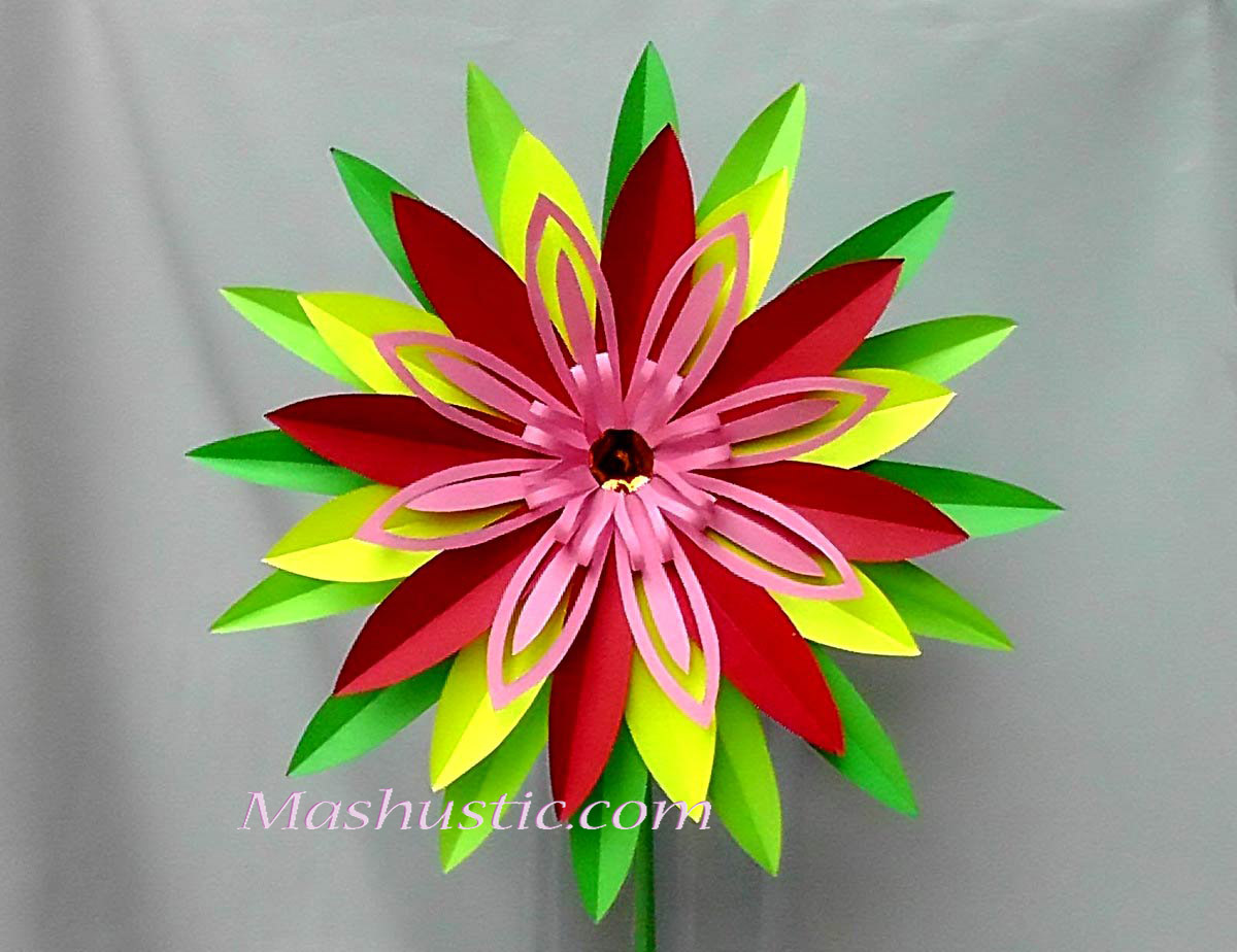 How To Make A Paper Flower Mashustic