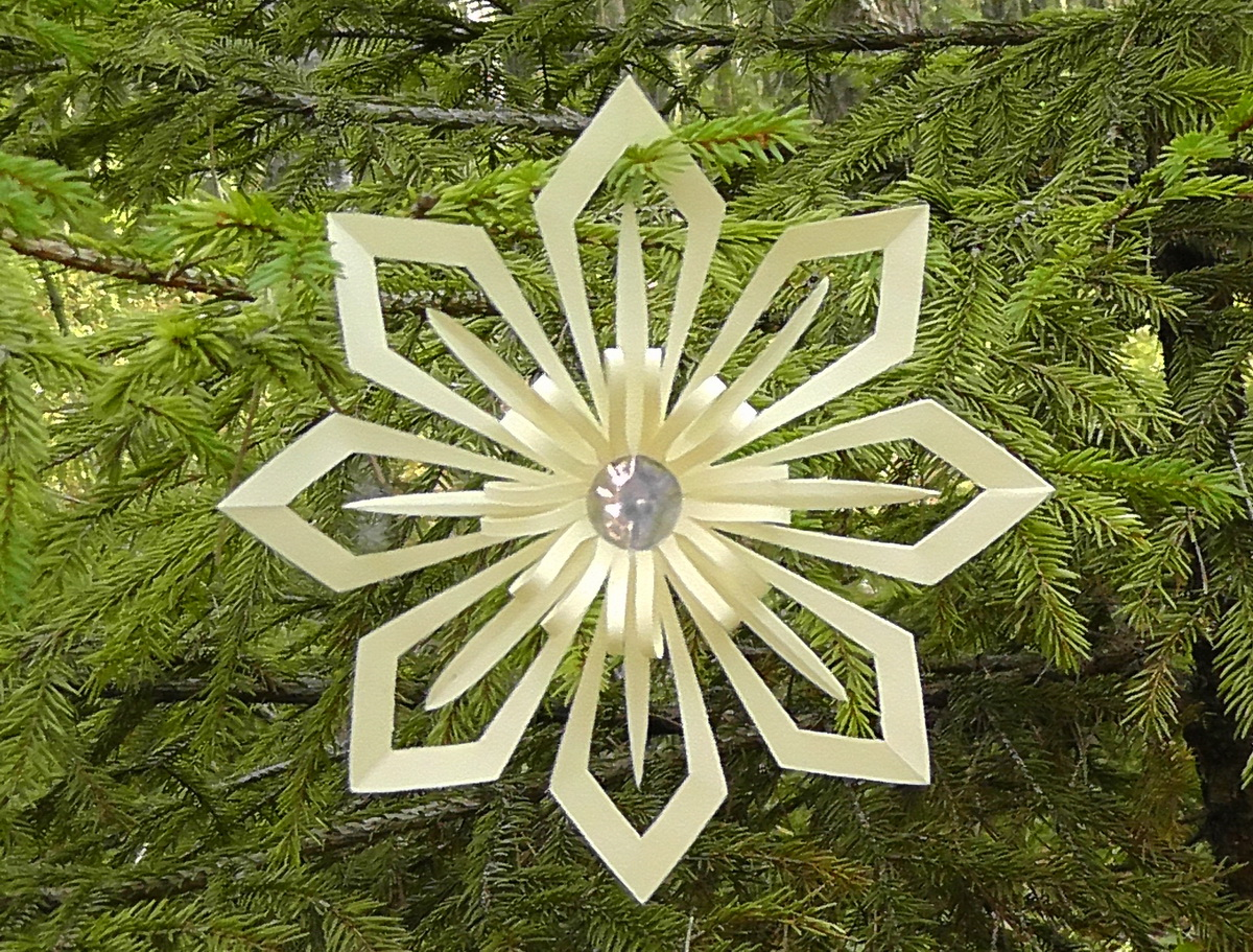 3d Paper Snowflakes To Make Mashustic
