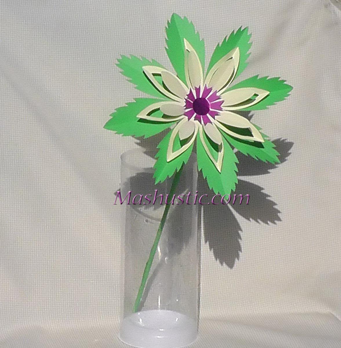 Easy Paper Flower Mashustic