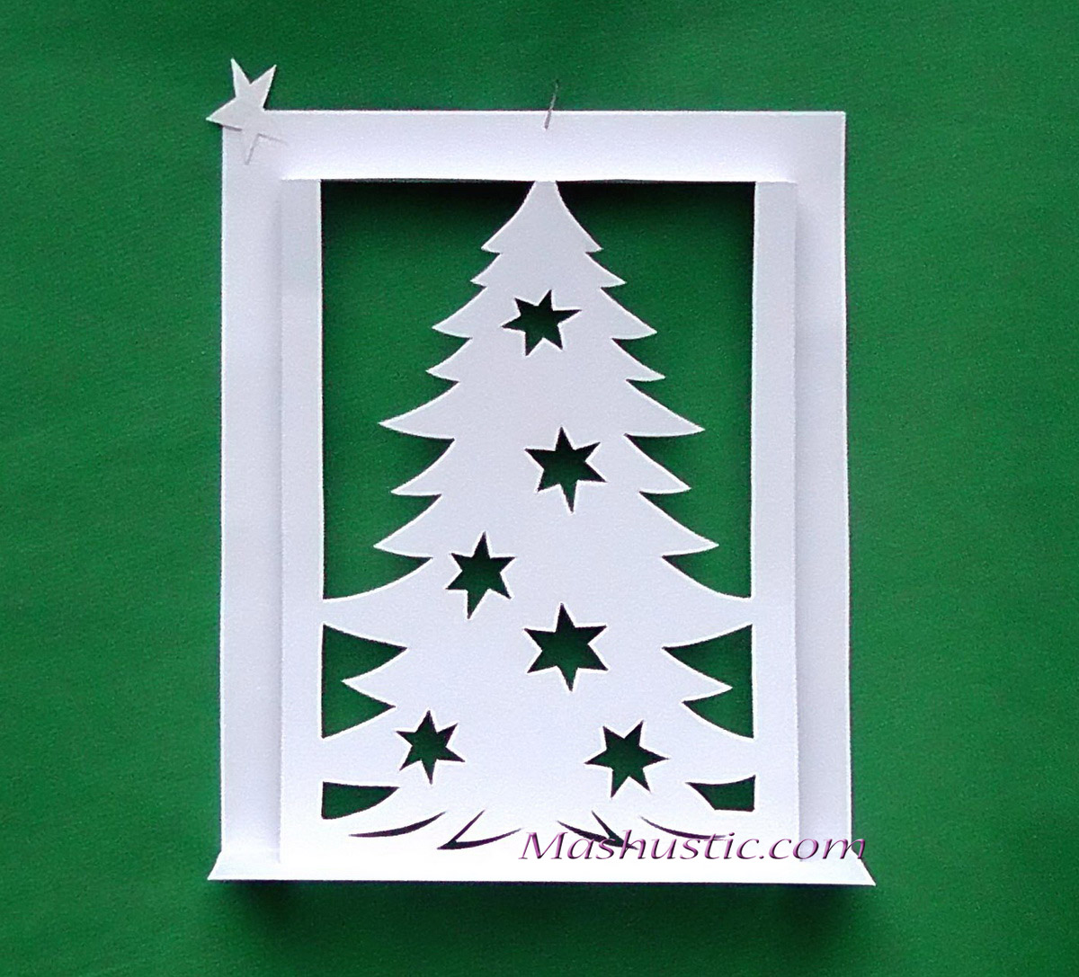 Christmas tree pop up card making | Mashustic.com
