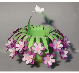 Easy Paper Flower Basket Mashustic Com
