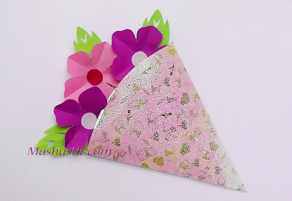 Kids crafts small paper flower bouquet mashustic kids crafts a small paper flower bouquet izmirmasajfo