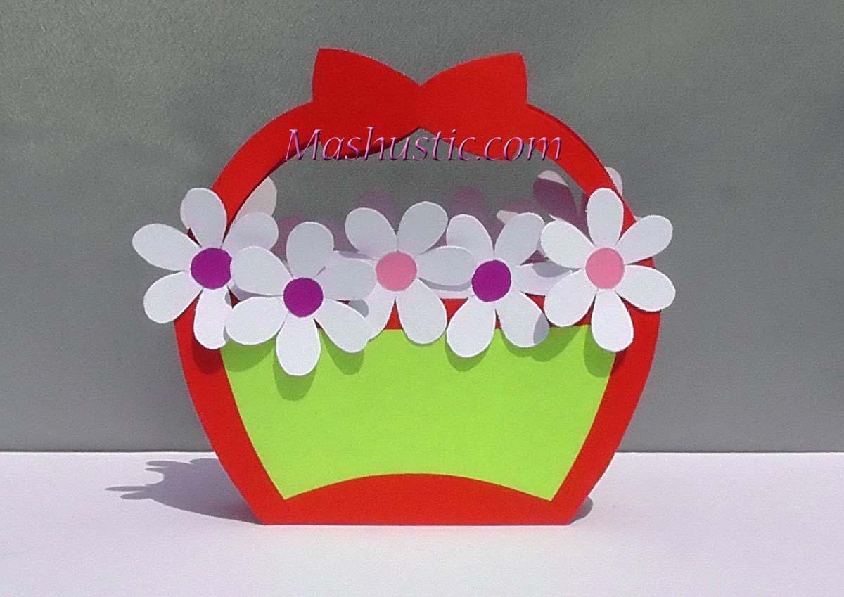 Easy Paper Flower Basket Mashustic